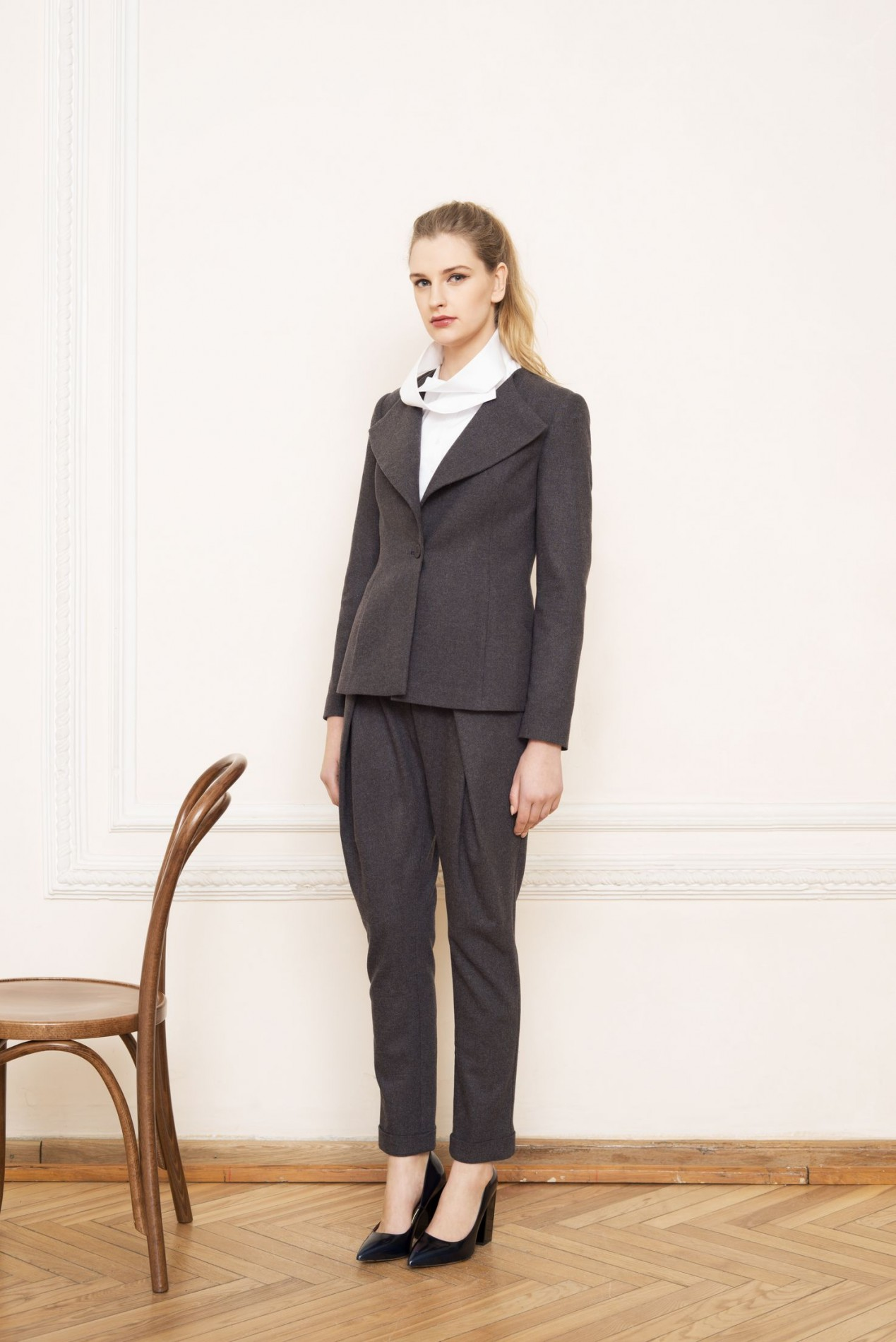 ALPS Elegant Jacket and RILA High-neck Shirt and ALPS Pleat Trousers