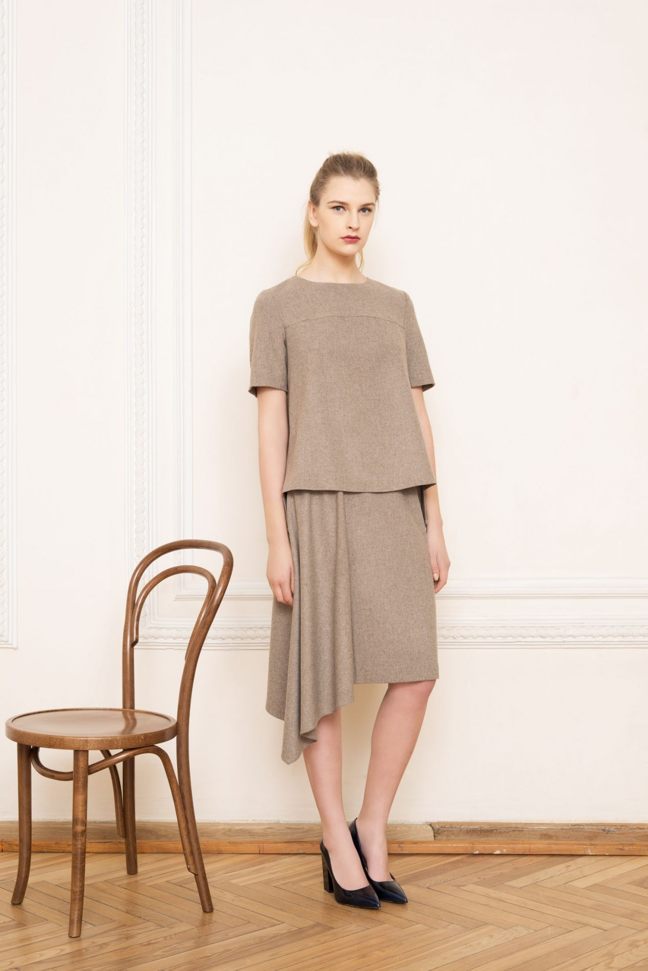 ALPS Pleat Blouse and ALPS Asymmetric Skirt