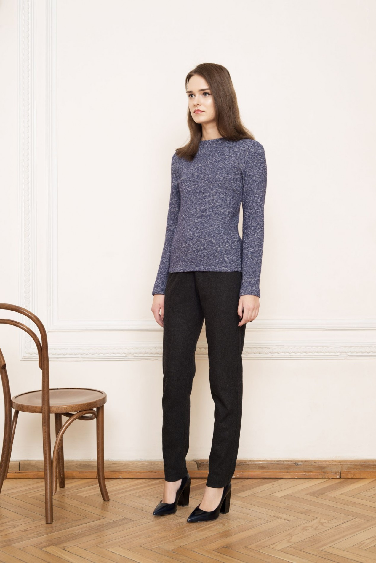 ELBRUS Knitted Blouse and ALPS Slim Trousers