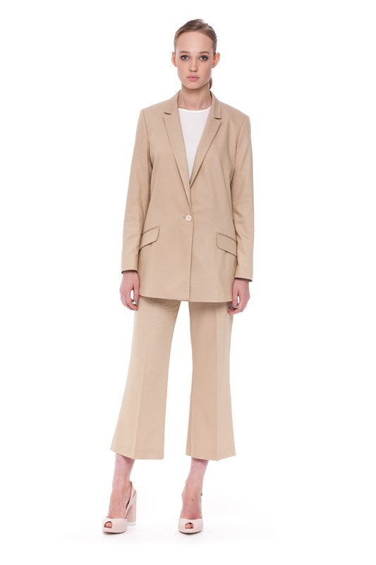 BAIKAL Long Jacket and BAIKAL Flare Trousers