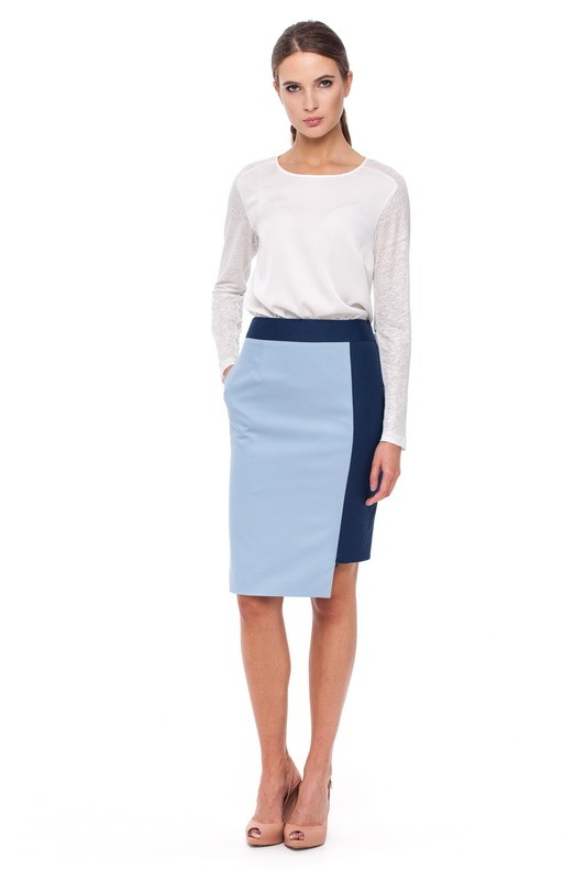 CASPIAN Long-sleeved Blouse and HURON Pencil Skirt