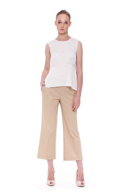 CASPIAN Peplum Blouse and  BAIKAL Flare Trousers