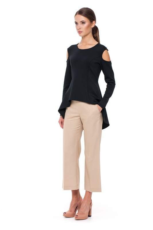 MALAWI Cut-out Blouse and BAIKAL Flare Trousers