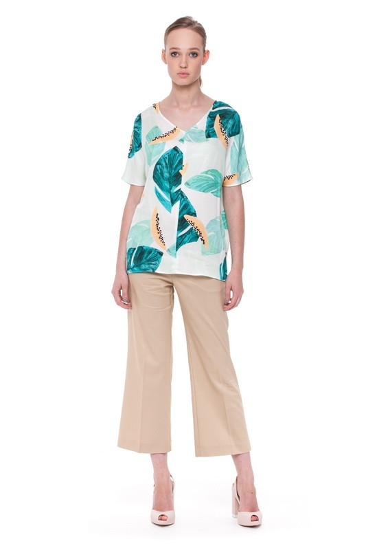 ONEGA Light Blouse and BAIKAL Flare Trousers