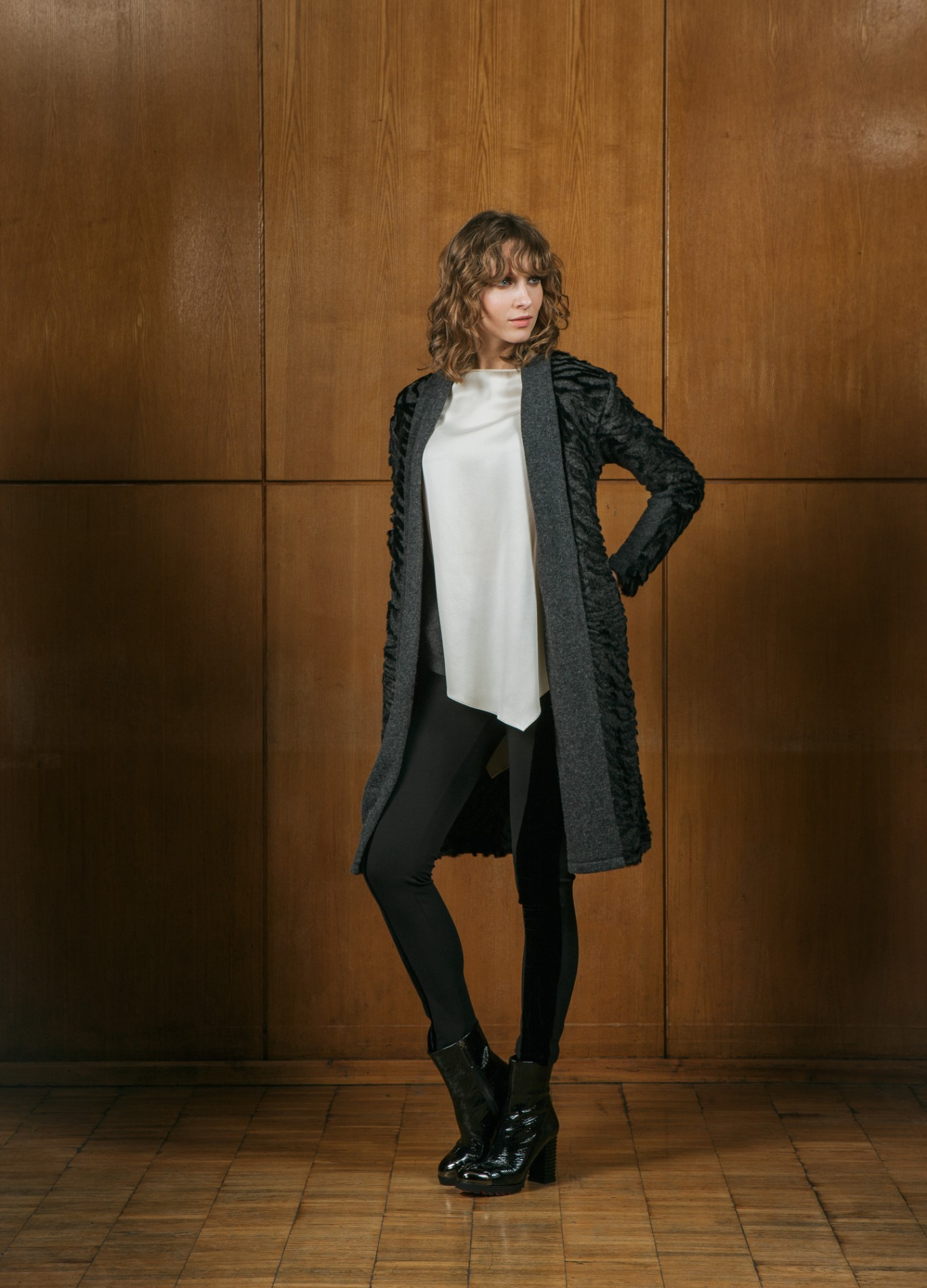 AMBER Cardigan and  DIAMOND Asymmetric Tunic with ONYX Leggings