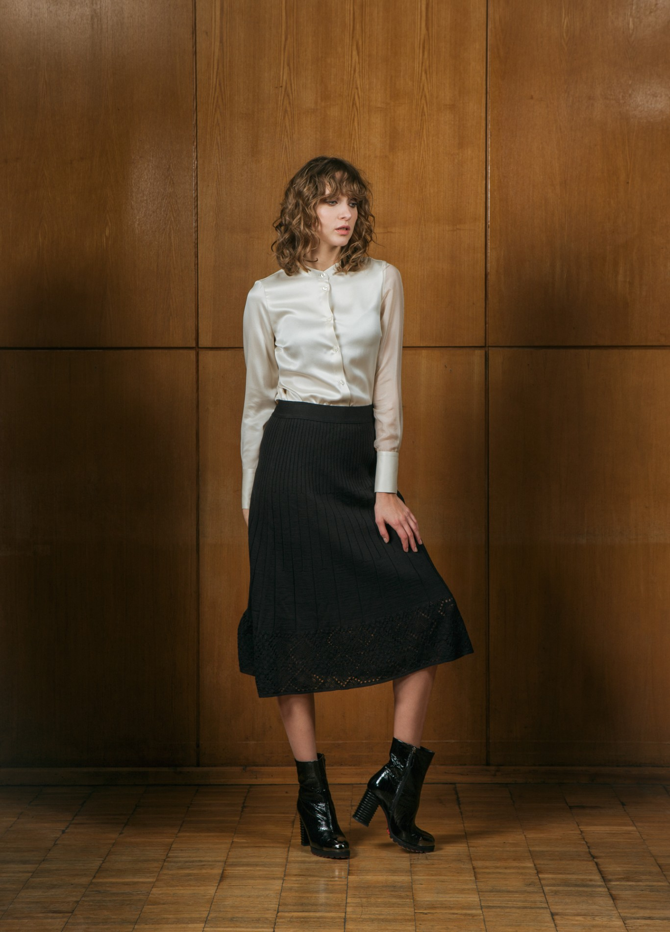 DIAMOND Shirt Blouse and AMBER Midi Skirt