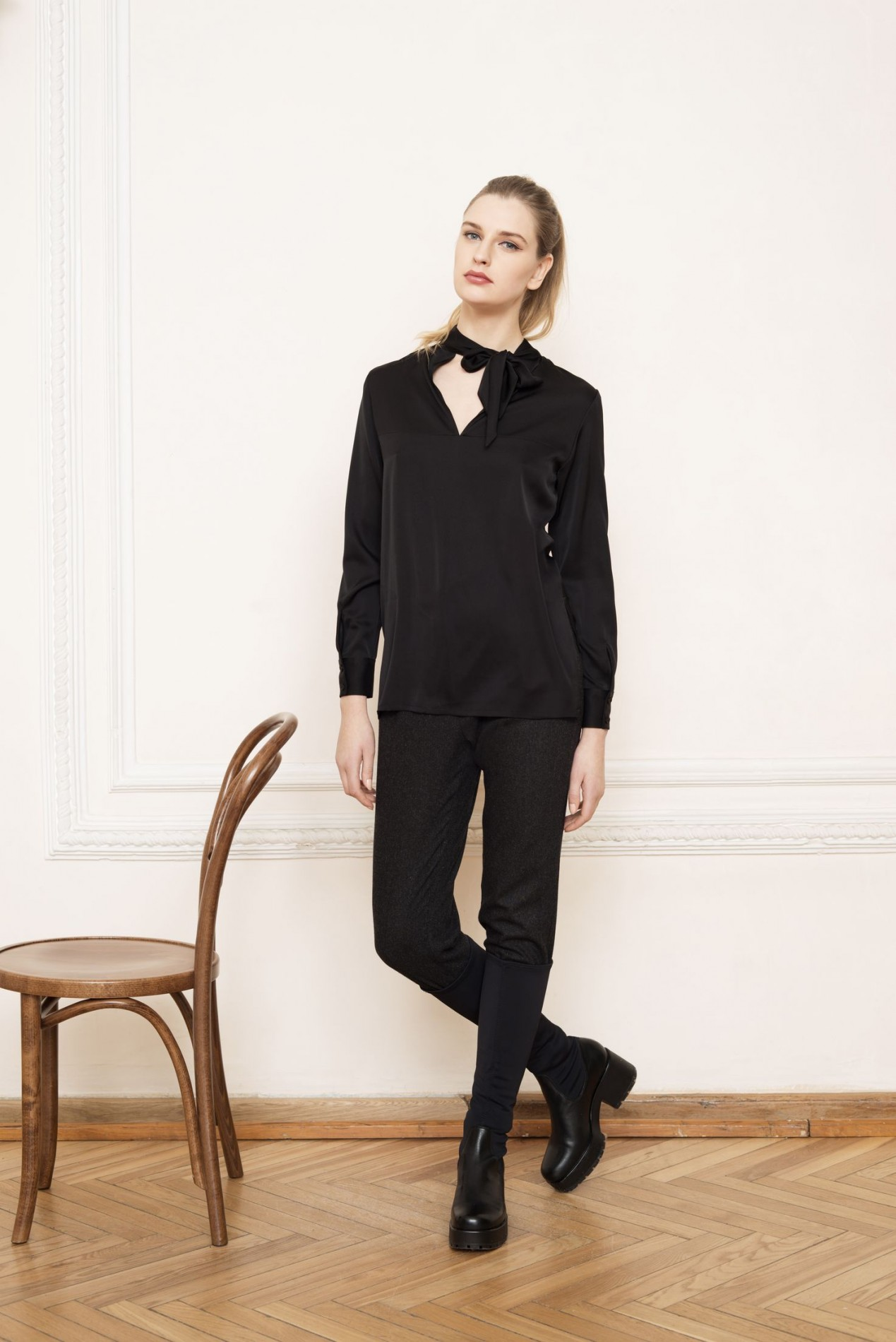 APENNINES Bow-tie Blouse and ALPS Slim Trousers