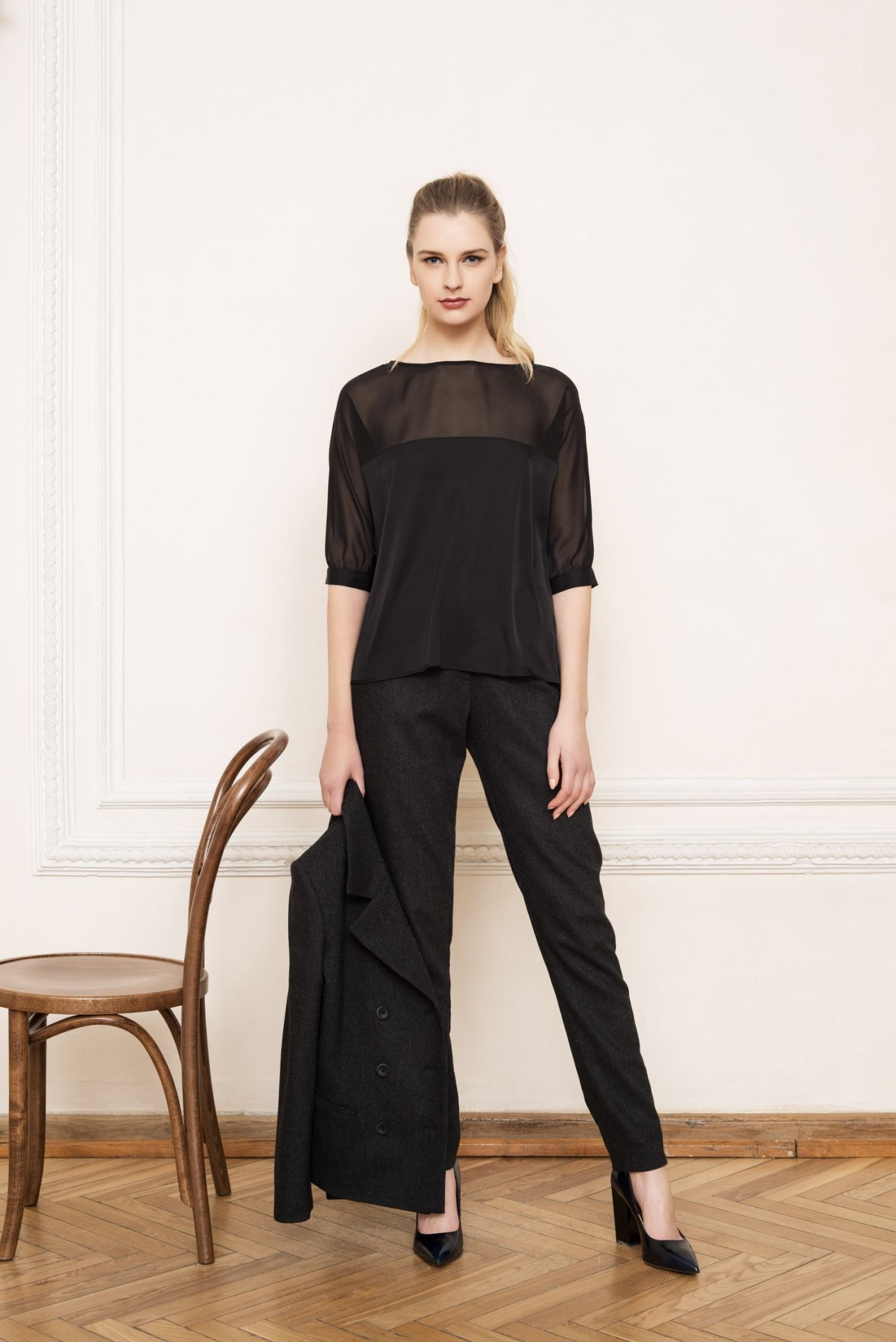 APENNINES Elegant Blouse and ALPS Slim Trousers