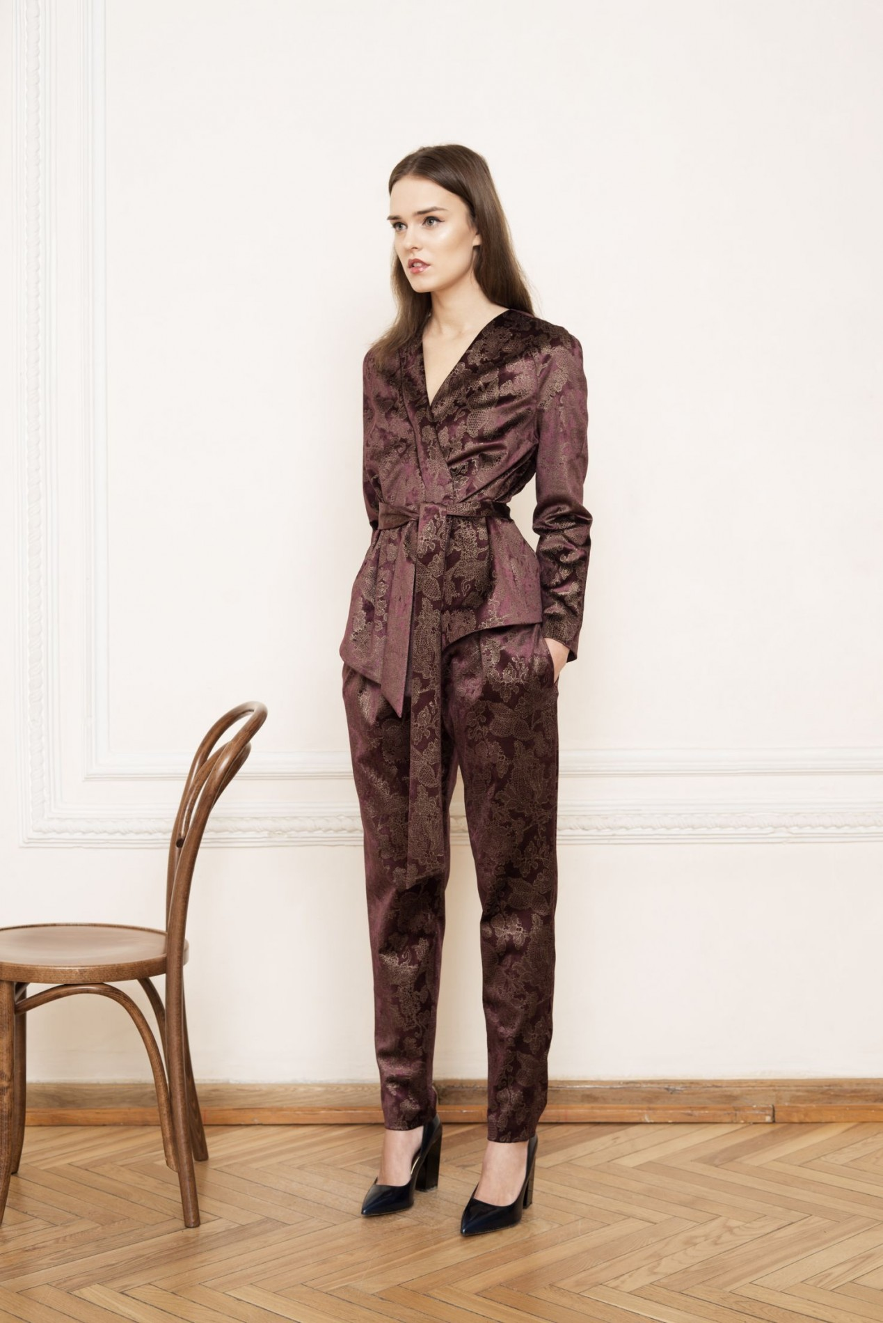 EVEREST Wrap Jacket and EVEREST Gathered Waist Trousers