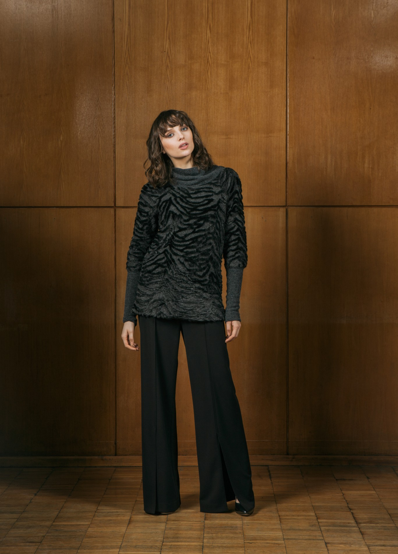 AMBER Sweater and ONYX Wide Trousers