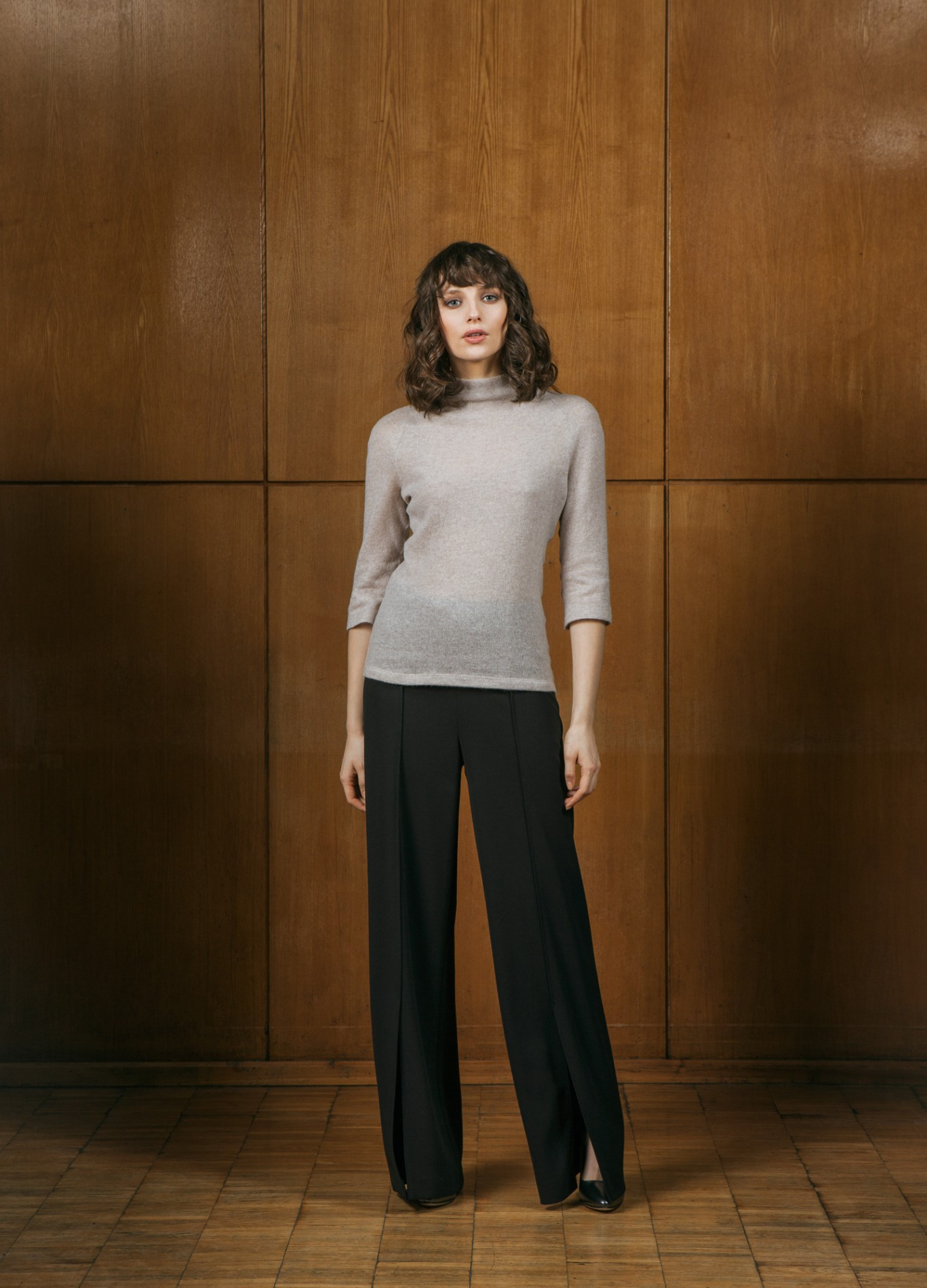 AMBER Raglan Sweater and ONYX Wide Trousers