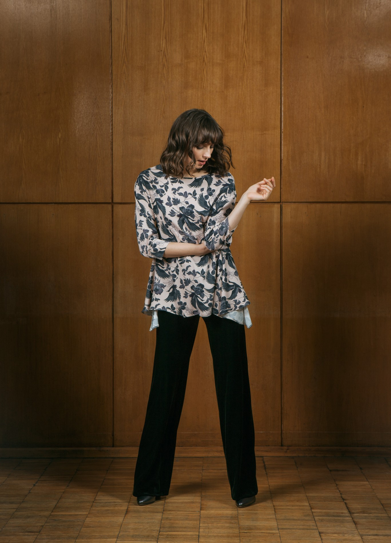 TOPAZ Flare Blouse and OPAL Trousers