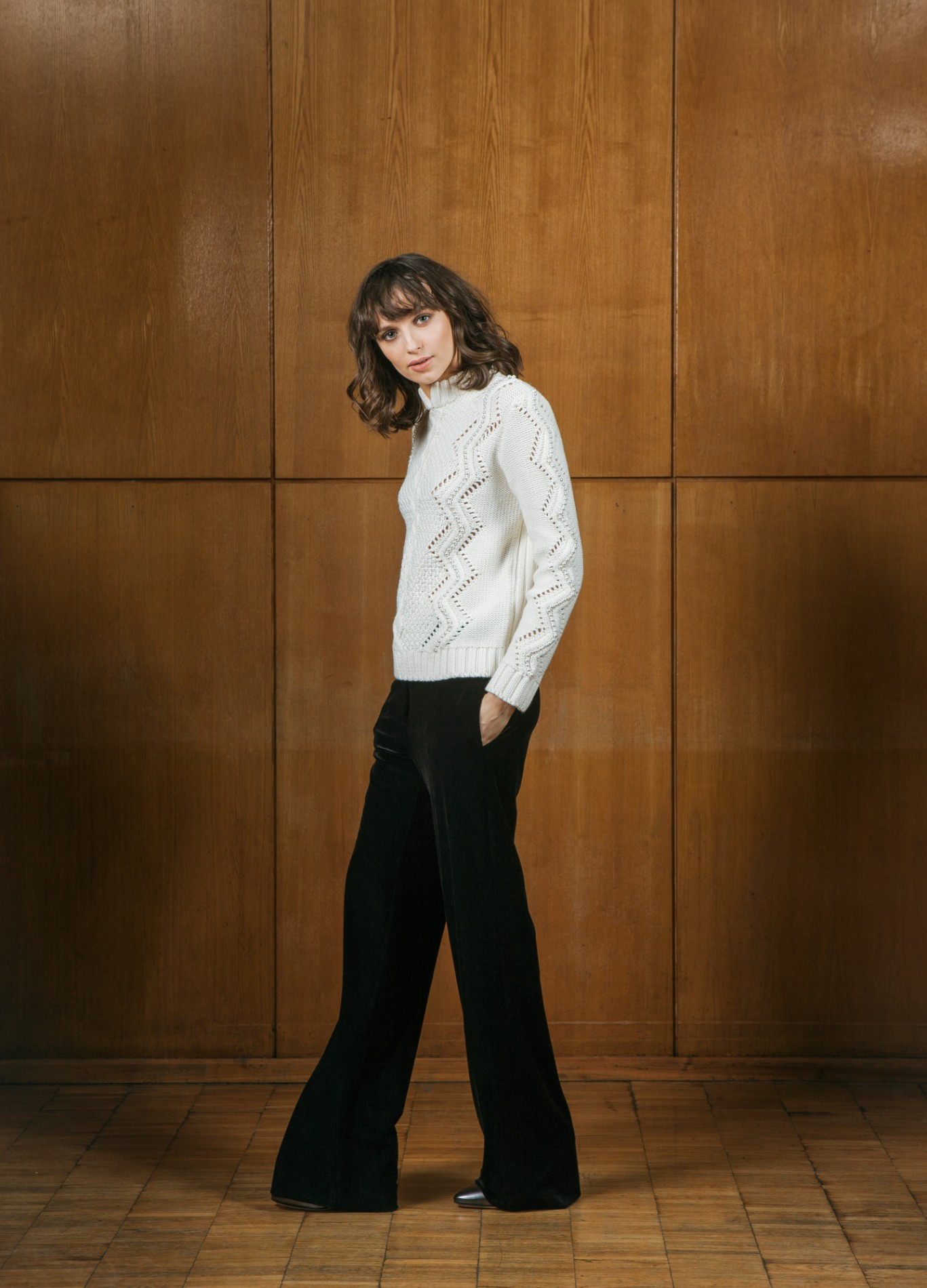 AMBER Beaded Sweater and OPAL Trousers